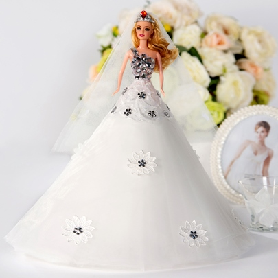 A-Line Flowers Bridal Barbie Doll