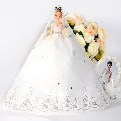 Ball Gown Wedding Barbie Doll Bridal Gift