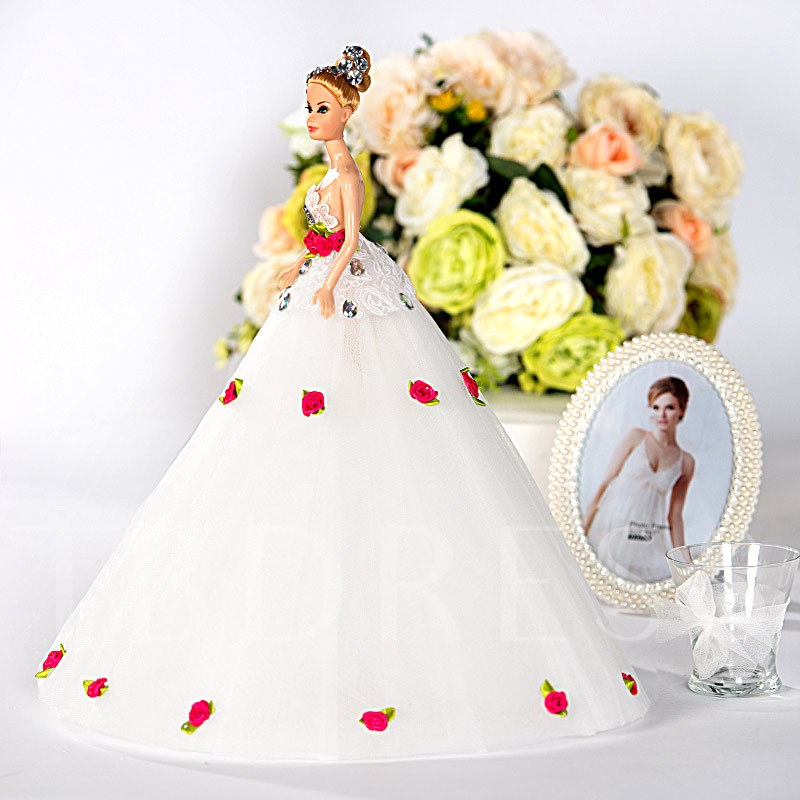 Flowers Wedding Barbie Doll Bridal Gift