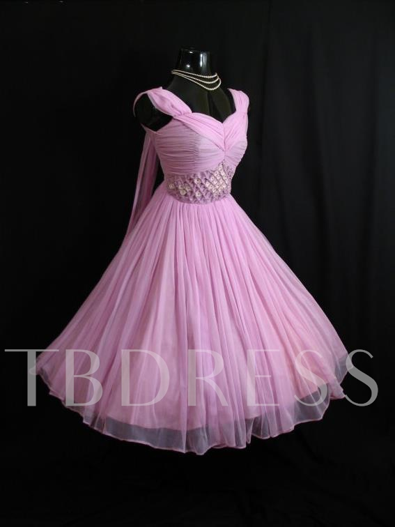 A-Line Straps Ruched Flowers Short Homecoming Dress