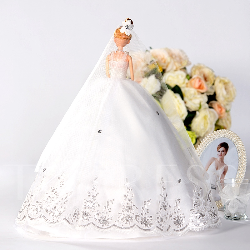 Romantic White Wedding Barbie Doll Gift