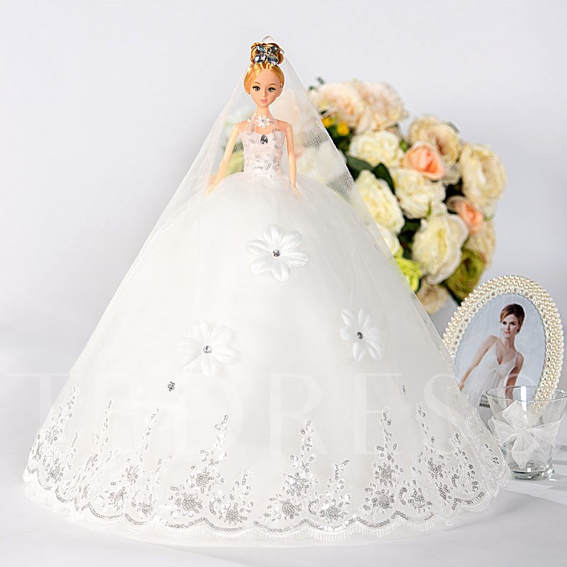 Flowers Sequins Wedding Barbie Doll Gift