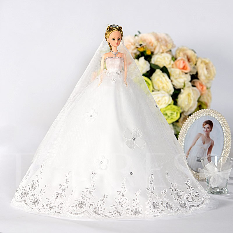 Bride Barbie Fairytale Wedding Doll Fashion Girl Gift