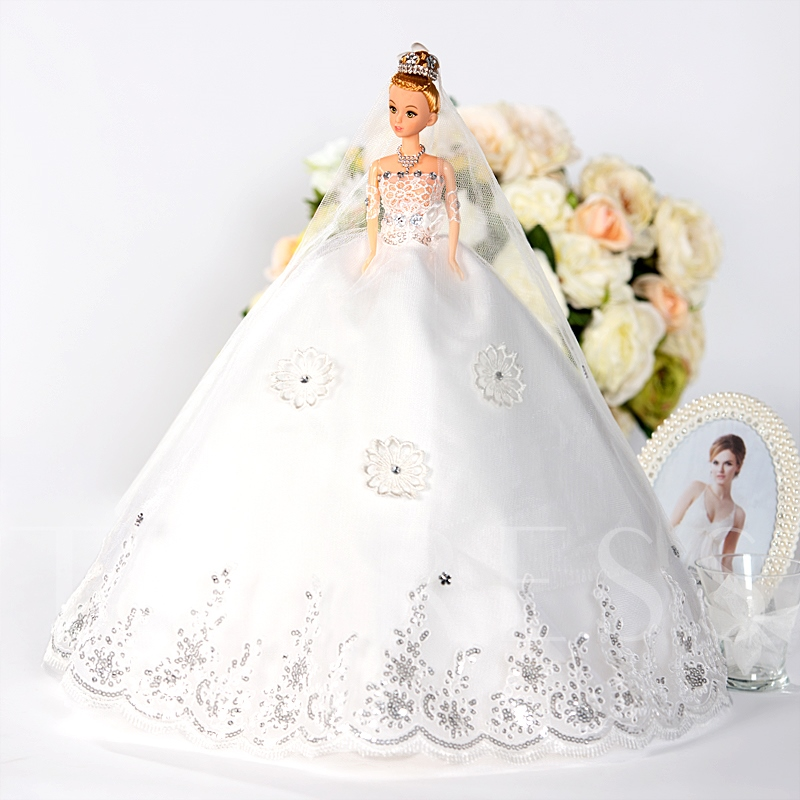 Wedding Barbie Royal Doll Marriage Toy Bride Gift
