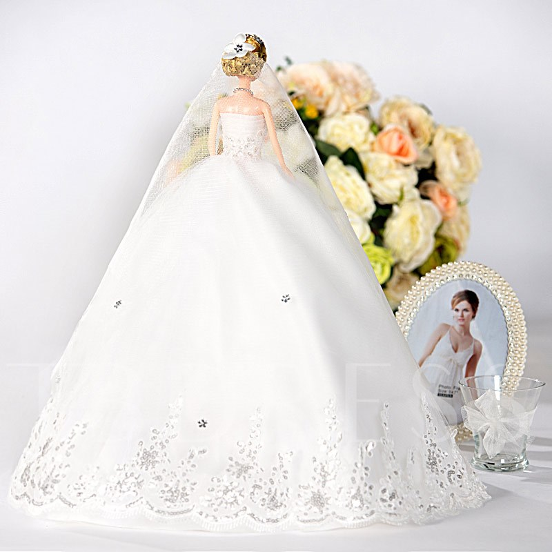 White Fashion Princess Toy Wedding Barbie Doll