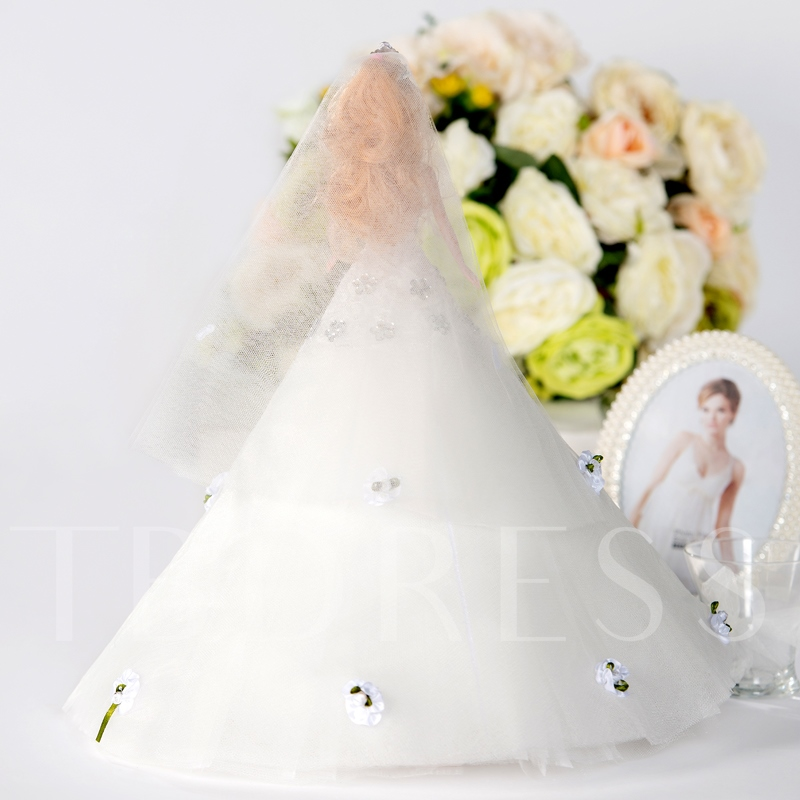 White Beads Wedding Barbie Doll with Veil