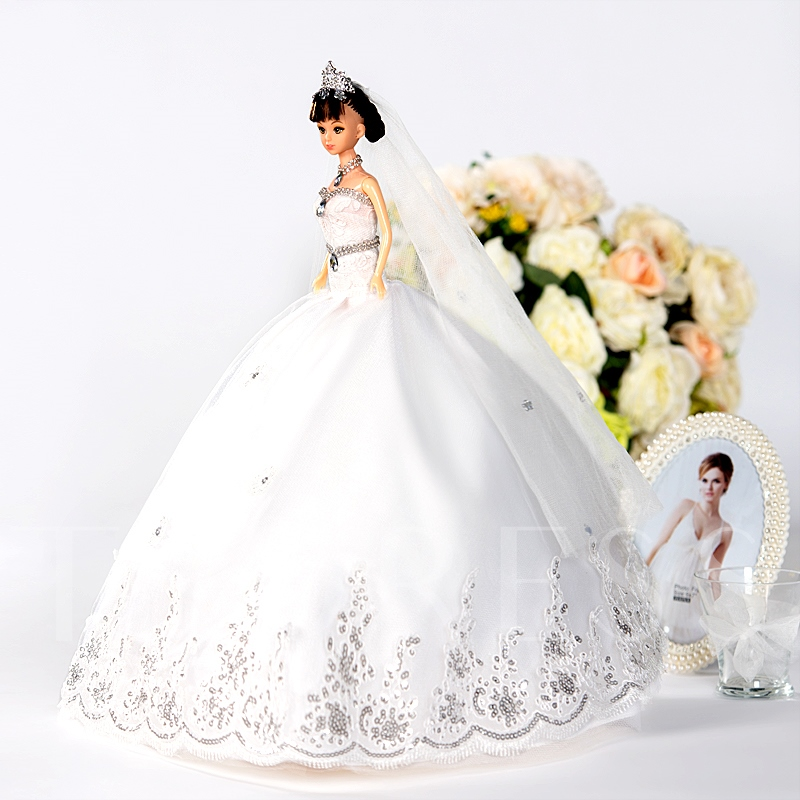 Tulle Princess Fashion Toy Wedding Barbie Doll Girl Gift