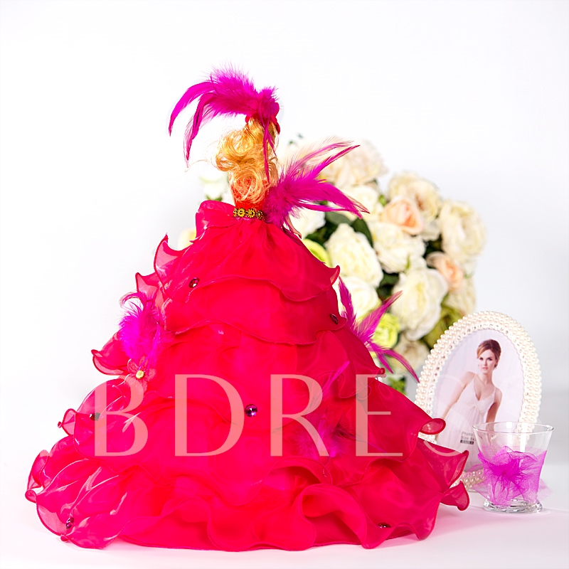 Strapless Rose Wedding Barbie Doll Fashionable Gift