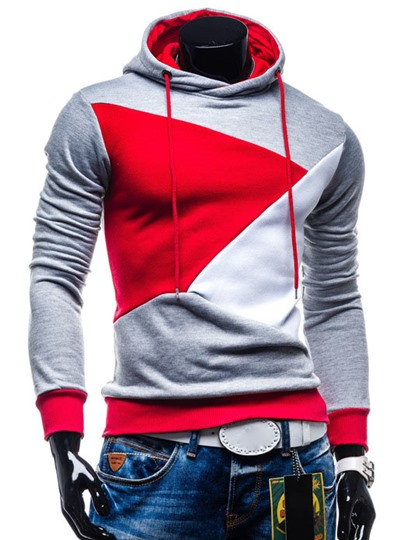 Multicolored Patchwork Men's Hoodie