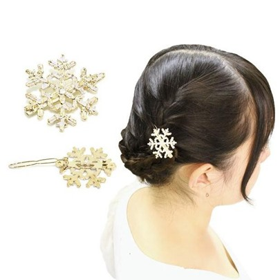 Ice And Snow Country Snow Hair Clip