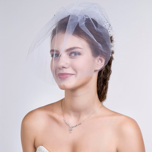 Transparent Bridal Facial Veil