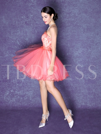 Sweetheart A-Line Lace Homecoming Dress