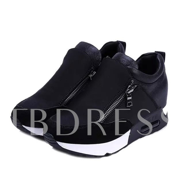 Zipper Platform Round Toe Women's Sneakers