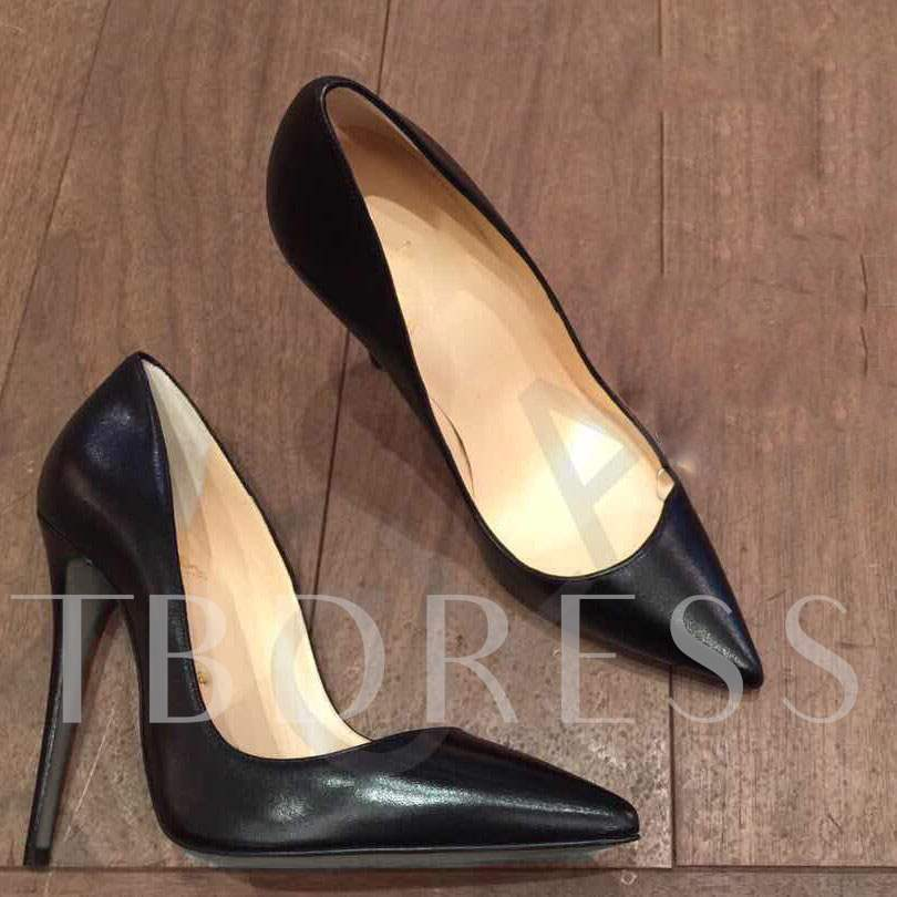 Black / White Pointed Toe High Heel Women's Pumps (Plus Size Available)