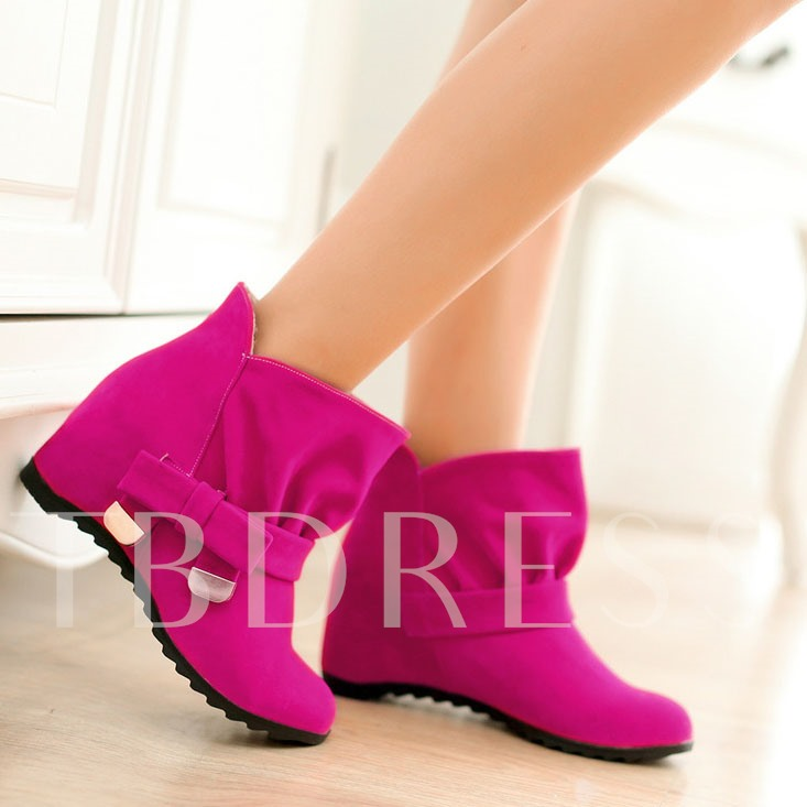 Bowtie Slip-on Round Toe Women's Boots (Plus Size Available)