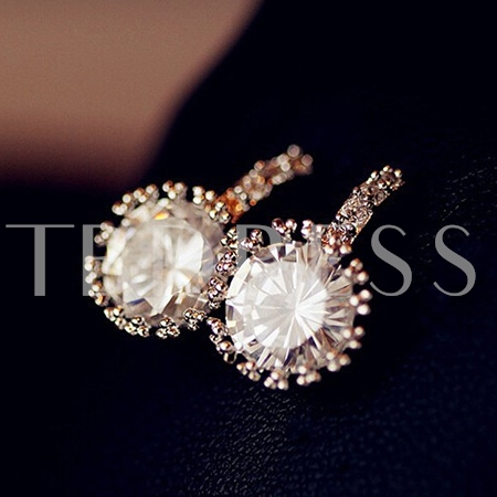 Luxury Rounded Zircon Earrings