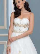 Sweetheart Appliques Beaded Bowknot Hall Wedding Dress