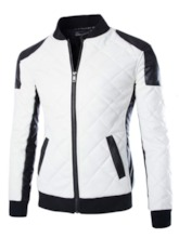 Quilted Black&White Men's Motor Jacket