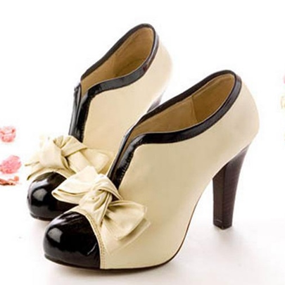Pointed Toe Stiletto Heel Ankle Bow Women's Boots