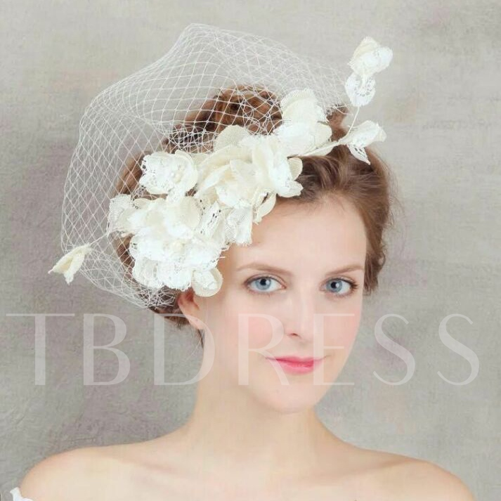 Graceful Wedding Hair Flower Bridal Veil