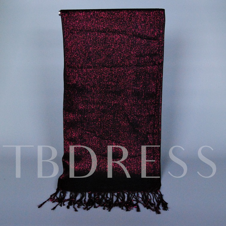 Tassels Gold Thread Scarf