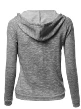 Plus Size Solid Color Women's Hoodie