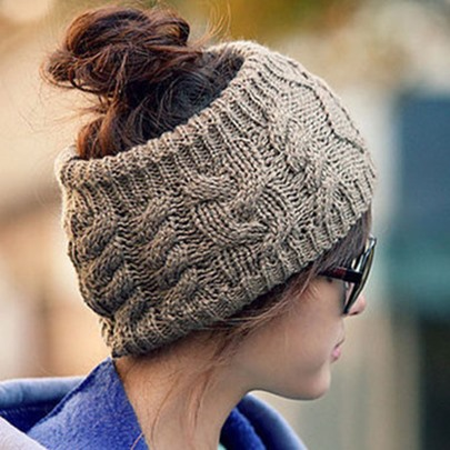 No Top Twist Wool Hat