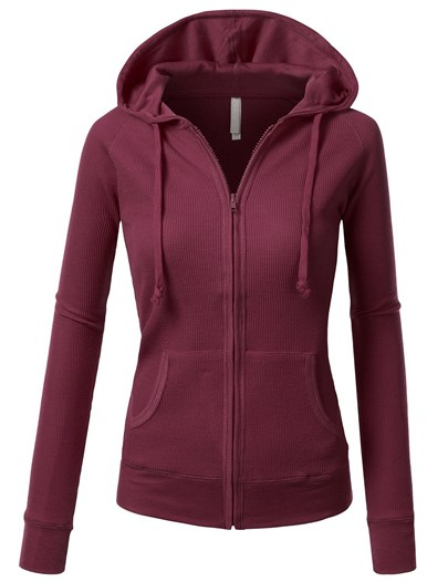 Zipper Hooded Slim Long Sleeve Women's Hoodie
