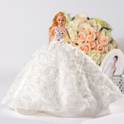 Romantic Wedding Barbie Doll Gift