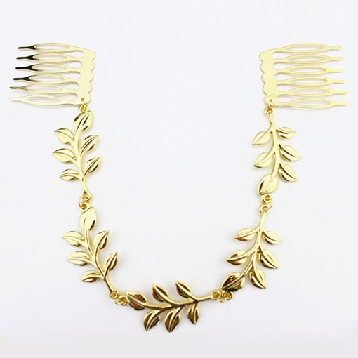 Golden Leaves Hair Comb
