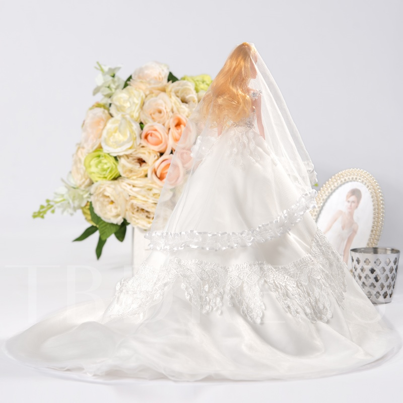 White Wedding Barbie Doll with Veil