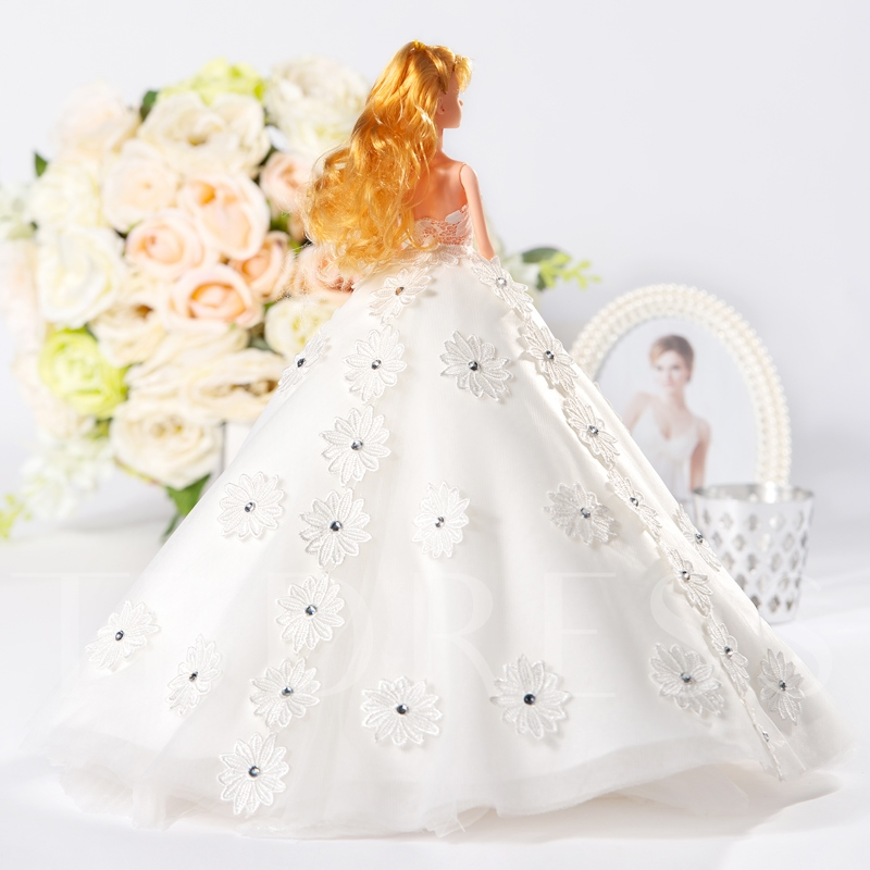 Royal Flowers Wedding Barbie Doll