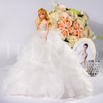 Tulle Wedding Barbie Doll Bridal Gift