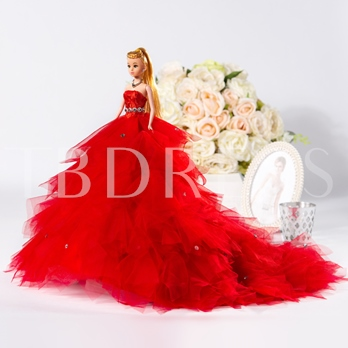 Red Bridal Barbie Doll Gift