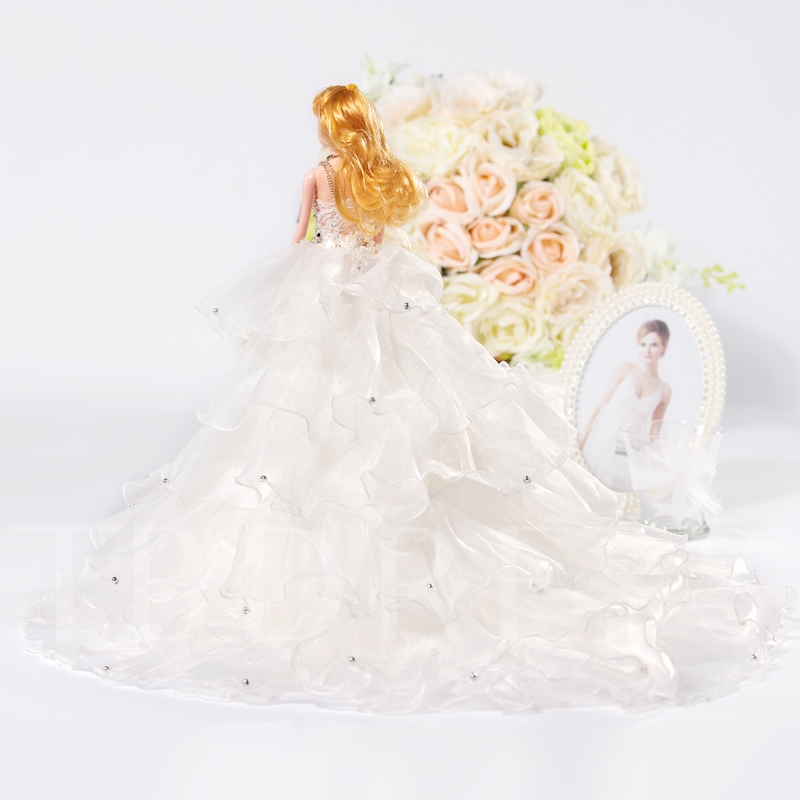 Tiered Beaded Wedding Barbie Doll Bridal Gift