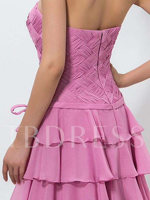 Sweetheart A-Line Ruched Belt Knee-Length Homecoming Dress