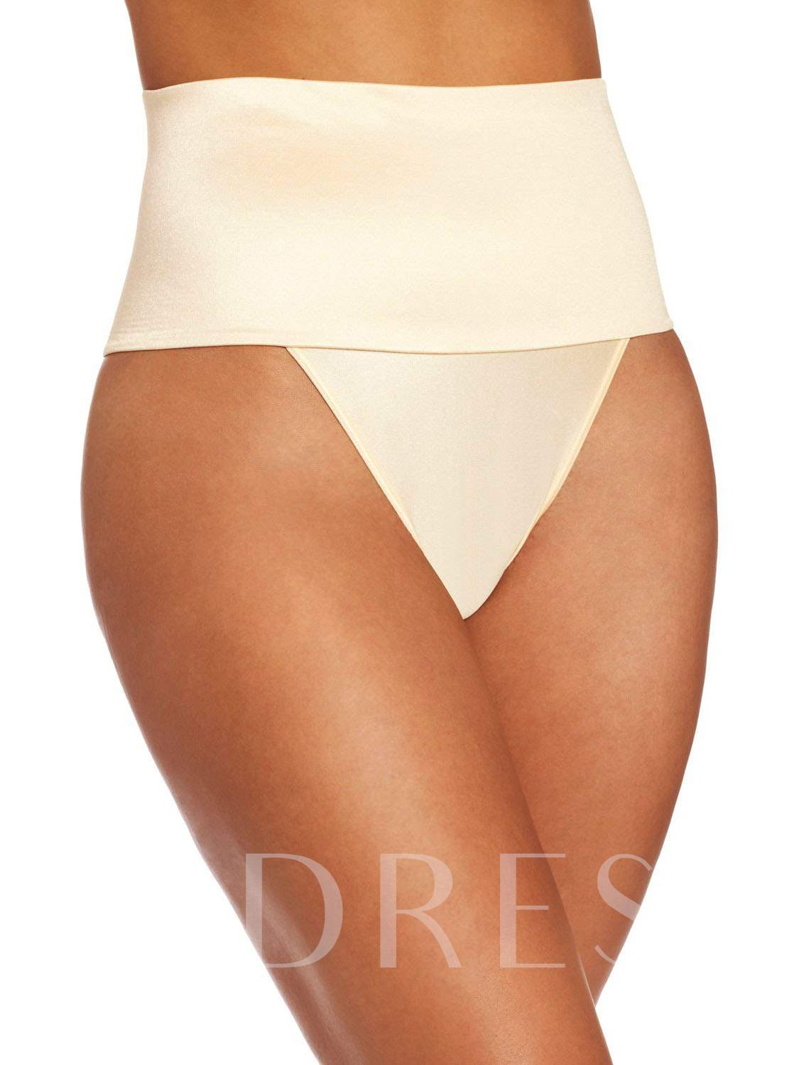 High Waist Pure Color Panty