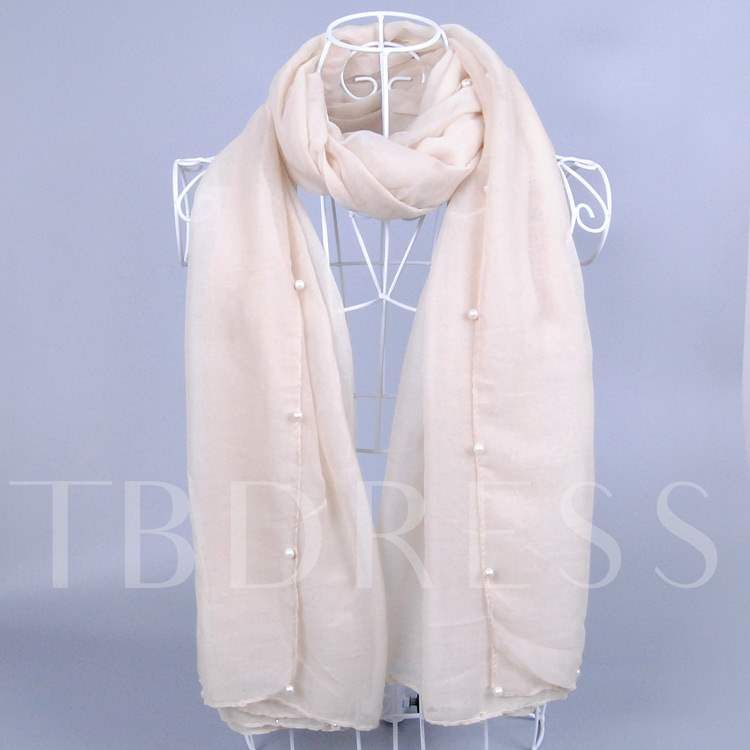 Great Pearl + Monochromatic Cotton and Linen Scarf