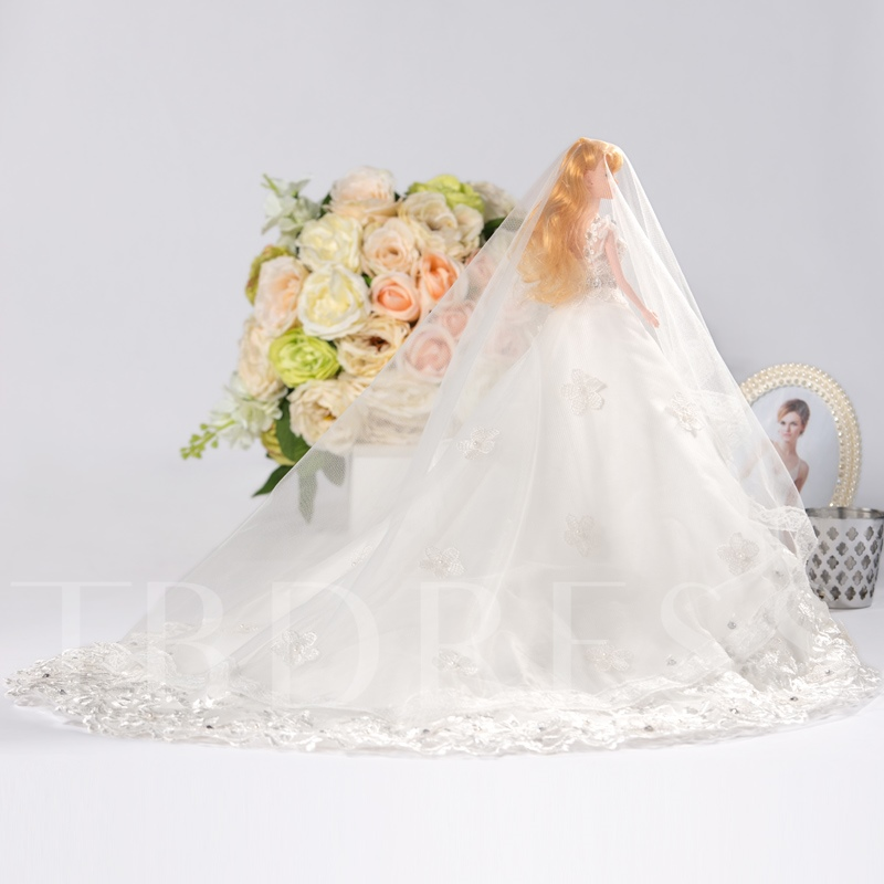 White Wedding Barbie Doll Girl`s Gift