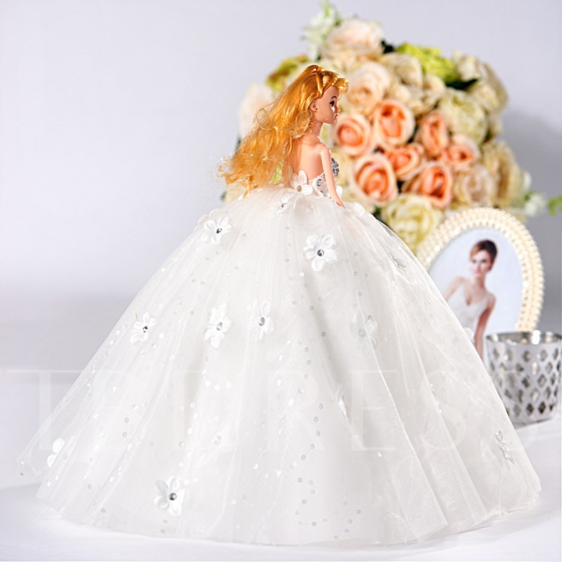 Princess Flowers Ball Gown Bridal Barbie Doll