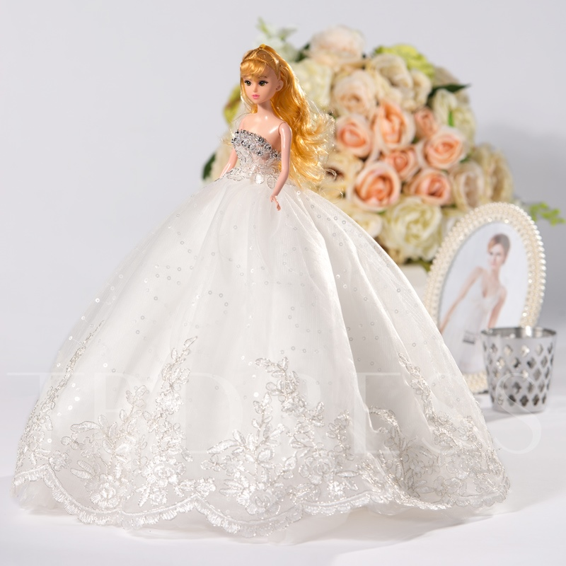 Ball Gown Wedding Barbie Doll