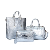 Classic Crocodile Pattern Bag Set