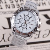 Three Color Optional Dial Steel Band Watch
