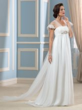 Empire Waist Maternity Beach Wedding Dress