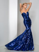 Mermaid Sweetheart Sequins Sweep Train Evening Dress