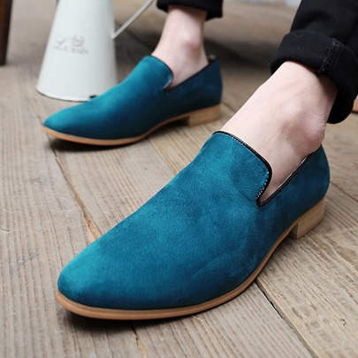 Pointed Toe Slip-On Low-Cut Upper Men's Loafers