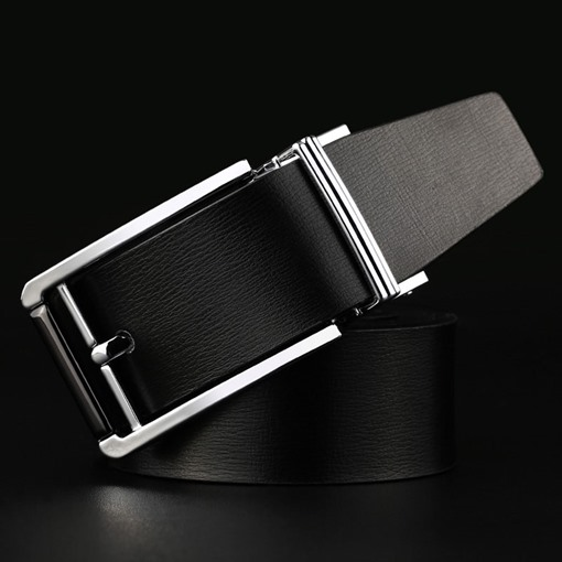 Men Double-Sided Business Artificial Leather Belt
