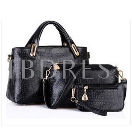 Crocodile Grain PU 3 Pieces Women Bag Set