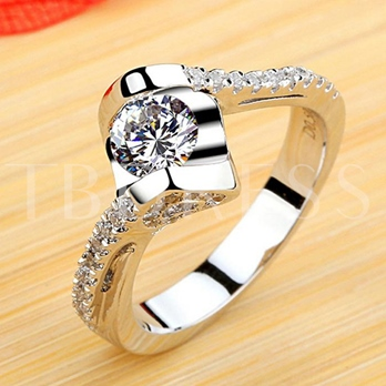 Geometric Shaped Design Silver Plated Ring