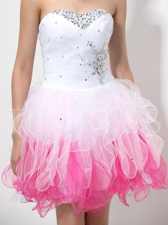 Sweetheart A-Line Beading Crystal Homecoming Dress